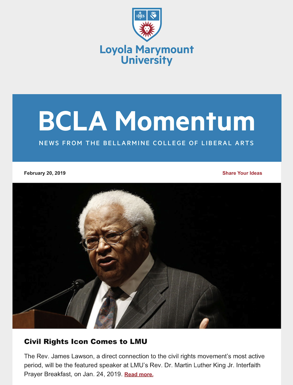 BCLA Momentum newsletter feature