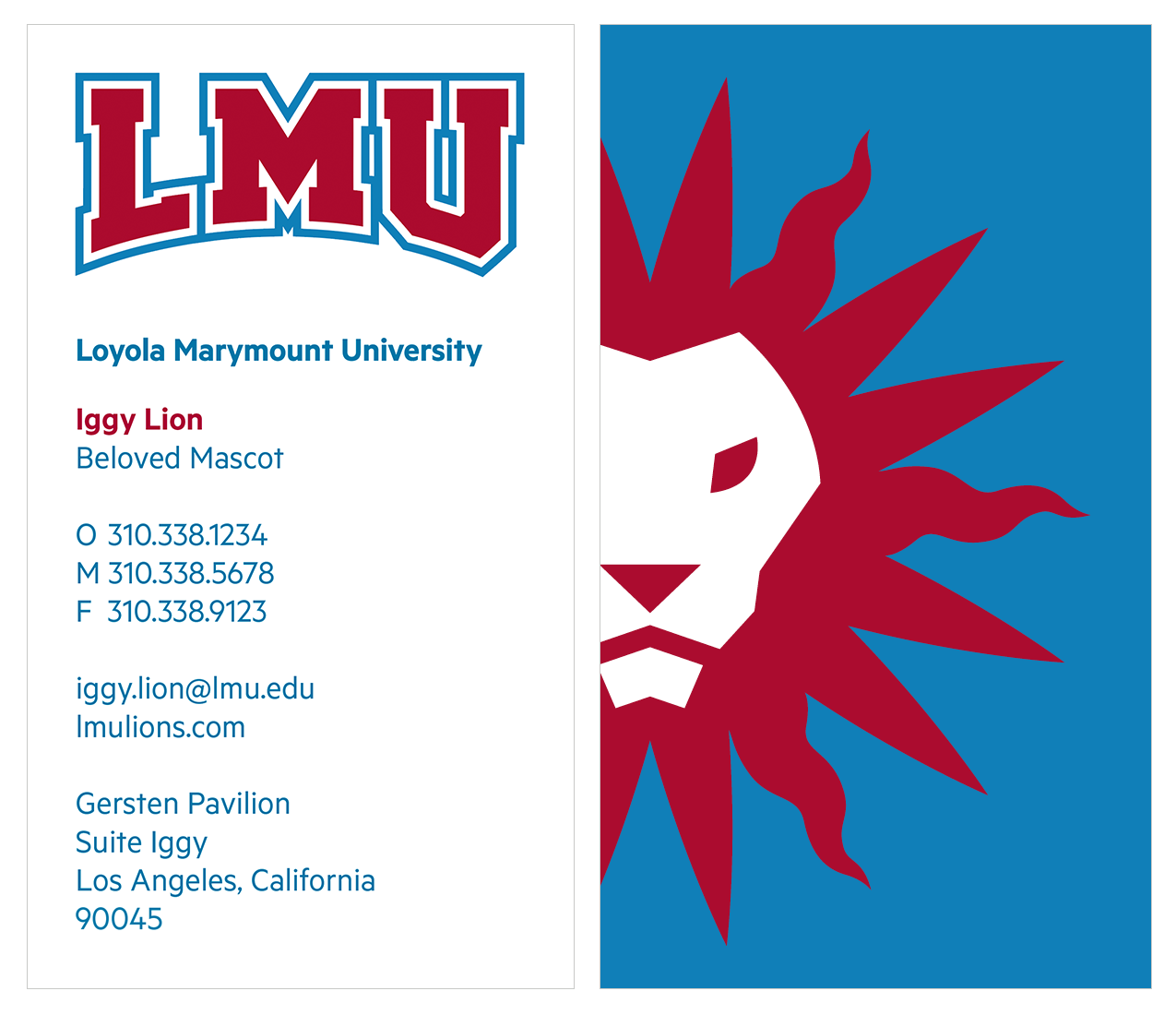 Athletics Business Card with Spirit Mark Backing